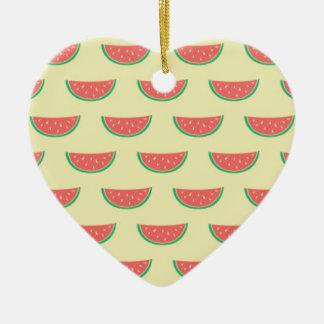 Ornamento De Cerâmica teste padrão do verão da melancia