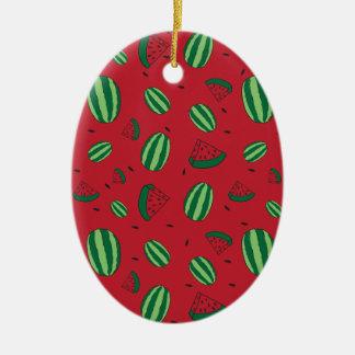 Ornamento De Cerâmica Teste padrão do vermelho da melancia
