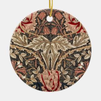 Ornamento De Cerâmica Teste padrão do vintage da madressilva de William
