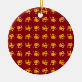Ornamento De Cerâmica Teste padrão dobro da coroa
