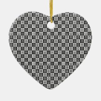 Ornamento De Cerâmica Teste padrão dos Hexagrams