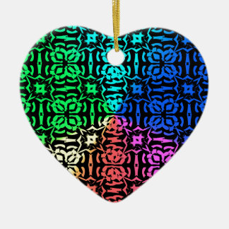 Ornamento De Cerâmica Teste padrão e formas coloridos rústicos
