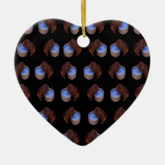 Ornamento De Cerâmica Teste padrão ereto do bebendo da cobaia,