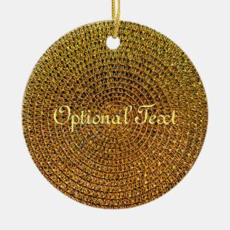 Ornamento De Cerâmica Teste padrão espiral do ouro