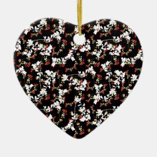 Ornamento De Cerâmica Teste padrão floral da colagem do Chinoiserie