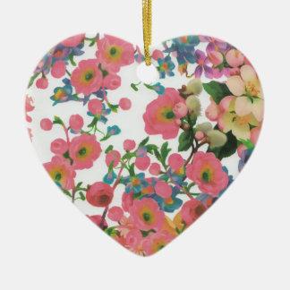 Ornamento De Cerâmica teste padrão floral do tema das flores elegantes