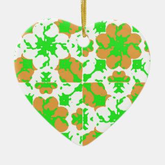 Ornamento De Cerâmica Teste padrão floral gráfico