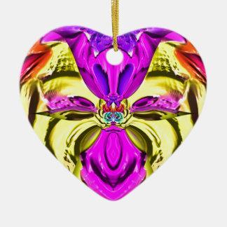 Ornamento De Cerâmica Teste padrão florescente legal do abstrato do