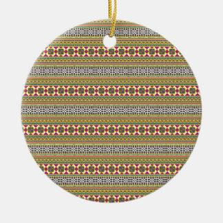 Ornamento De Cerâmica Teste padrão geométrico