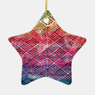 Ornamento De Cerâmica Teste padrão geométrico abstrato