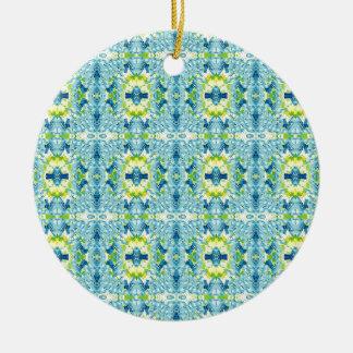 Ornamento De Cerâmica Teste padrão geométrico artístico do Fractal do