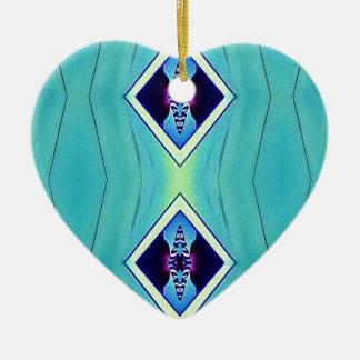 Ornamento De Cerâmica Teste padrão geométrico artístico Pastel vibrante