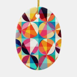 Ornamento De Cerâmica Teste padrão geométrico de Kaledioscope do círculo