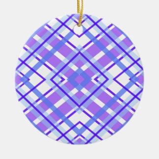 Ornamento De Cerâmica Teste padrão geométrico roxo do caleidoscópio