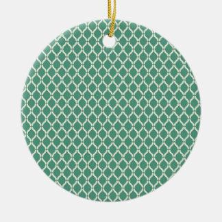 Ornamento De Cerâmica Teste padrão geométrico verde
