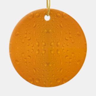 Ornamento De Cerâmica Teste padrão macro 8868 do vidro de cerveja