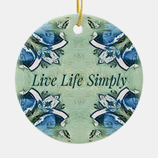 Ornamento De Cerâmica Teste padrão moderno da vida positiva artística do