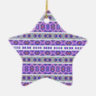 Ornamento De Cerâmica Teste padrão ornamentado listrado do vintage