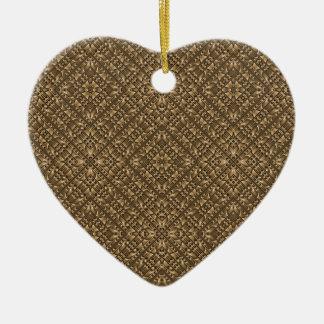Ornamento De Cerâmica Teste padrão Ornamented de madeira