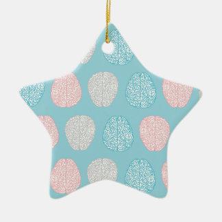 Ornamento De Cerâmica Teste padrão Pastel Brainy (cérebros Pastel