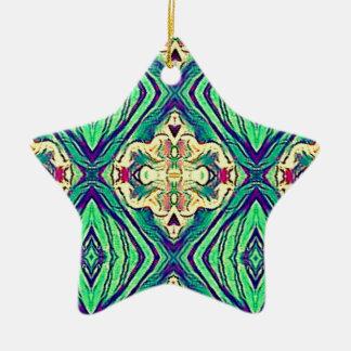 Ornamento De Cerâmica Teste padrão Pastel chique moderno