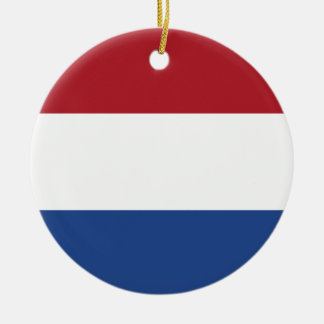 Ornamento De Cerâmica Teste padrão patriótico de Netherland Holland
