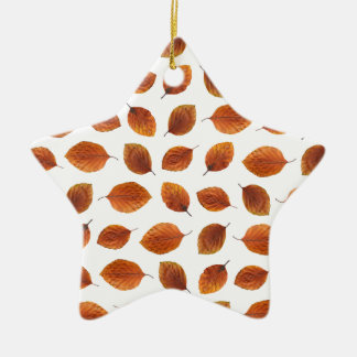 Ornamento De Cerâmica Teste padrão real das folhas de outono