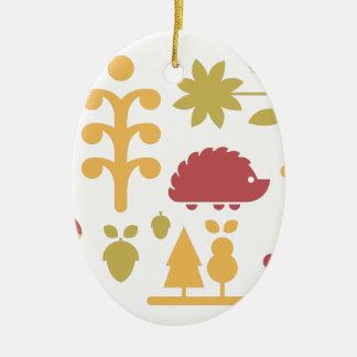 Ornamento De Cerâmica Teste padrão sem emenda do outono com a floresta