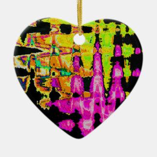 Ornamento De Cerâmica Teste padrão surpreendente bonito das cores de