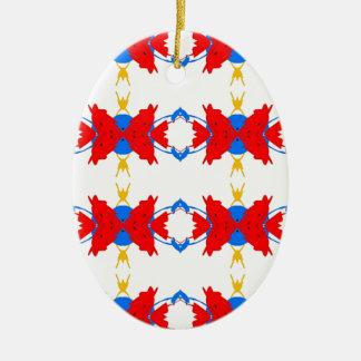Ornamento De Cerâmica Teste padrão tribal dos meninos amarelos azuis