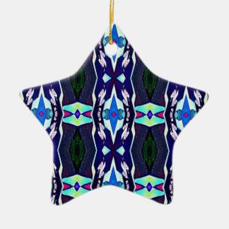 Ornamento De Cerâmica Teste padrão tribal Funky legal do caleidoscópio