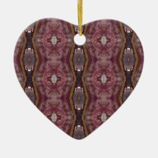 Ornamento De Cerâmica Teste padrão tribal moderno do rosa chique de