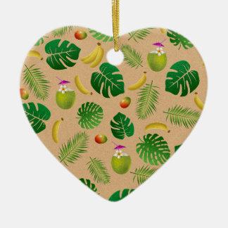 Ornamento De Cerâmica Teste padrão tropical