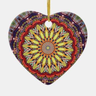 Ornamento De Cerâmica Teste padrão vibrante popular da mandala