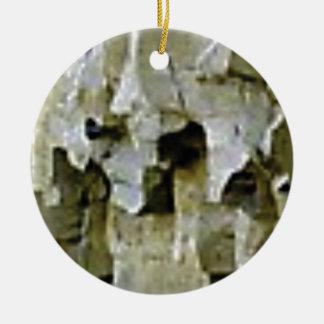 Ornamento De Cerâmica teto branco áspero da rocha
