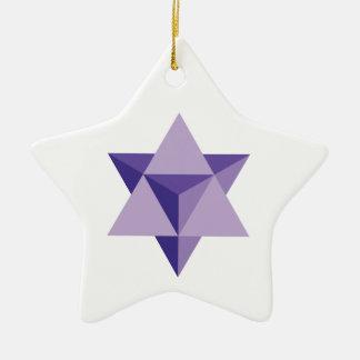Ornamento De Cerâmica Tetraedro da estrela de Merkaba