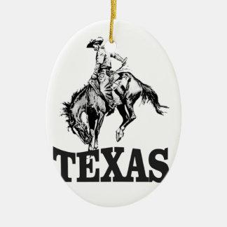 Ornamento De Cerâmica Texas preto