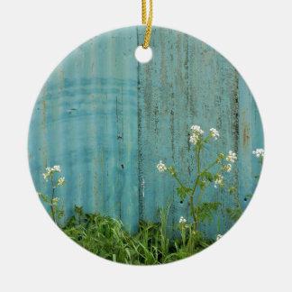 Ornamento De Cerâmica textura azul da cerca da pintura da natureza das