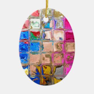 Ornamento De Cerâmica Textura colorida dos blocos de vidro