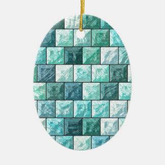 Ornamento De Cerâmica Textura dos blocos de vidro