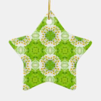 Ornamento De Cerâmica Textura floral verde