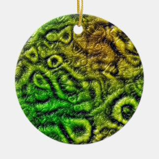 Ornamento De Cerâmica Textura verde da pele