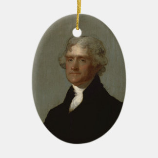 Ornamento De Cerâmica Thomas Jefferson