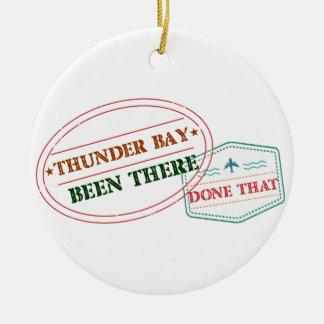 Ornamento De Cerâmica Thunder Bay feito lá isso