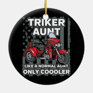 Ornamento De Cerâmica Tia de Triker da motocicleta