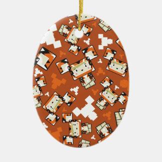 Ornamento De Cerâmica Tigre bonito de Blockimals dos desenhos animados