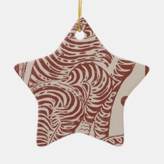 Ornamento De Cerâmica Tigre coreano da arte popular