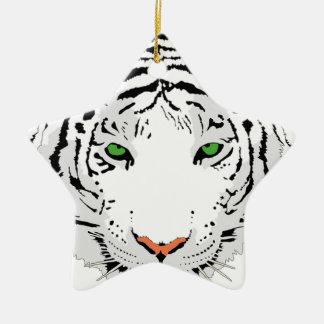 Ornamento De Cerâmica Tigre feito sob encomenda personalizado da neve