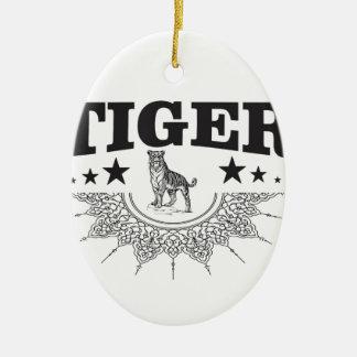 Ornamento De Cerâmica tigre feliz