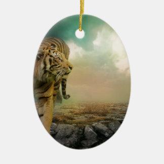 Ornamento De Cerâmica Tigre grande